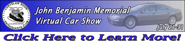 John Benjamin Memorial Virtual Car Show Banner